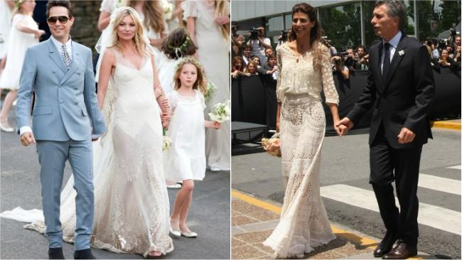 Vestidos de novia famosas argentinas
