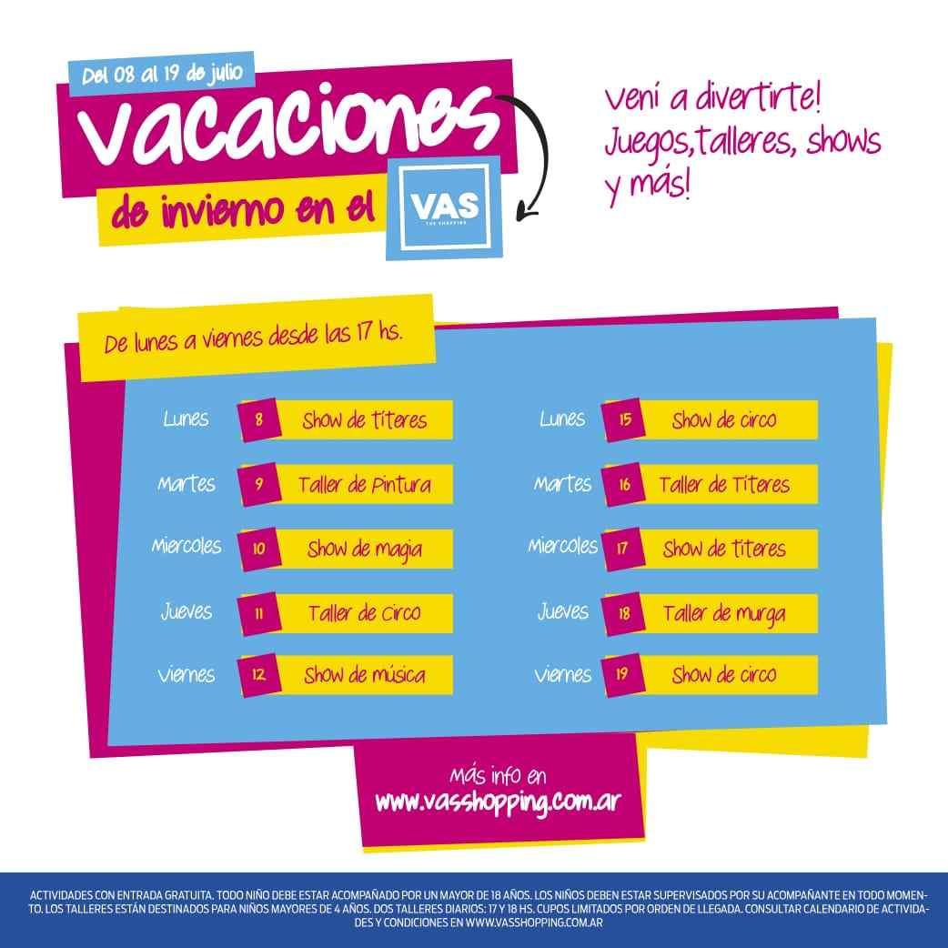 Shows, talleres creativos, juegos y la apertura de Museo Barrilete: la agenda de VAS para las vacaciones de invierno
