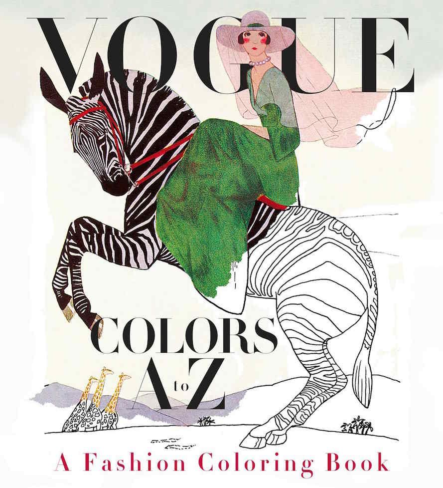 Fashion Book Cover Review : Vogue lanzó el primer libro de moda para colorear musa