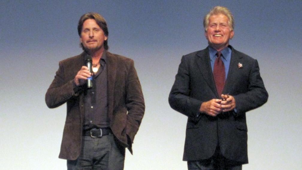 Emilio Estévez y su padre Martin Sheen trabajan juntos en el filme 'El camino'.