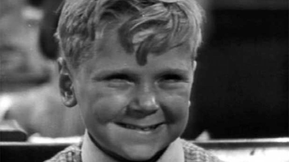 JACKIE COOPER. El actor, cuando niño, nominado al Oscar, a los nueve años.