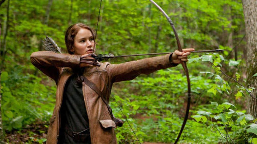 """Jennifer Lawrence es Katniss Everdeen, la heroína de """"Los juegos del hambre""""."""