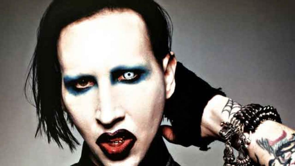MANSON, EL MÁS POLÉMICO. Así luce Marilyn Manson en el arte de su nuevo disco. Su look es muy imitado y hasta se convirtió en una corriente.