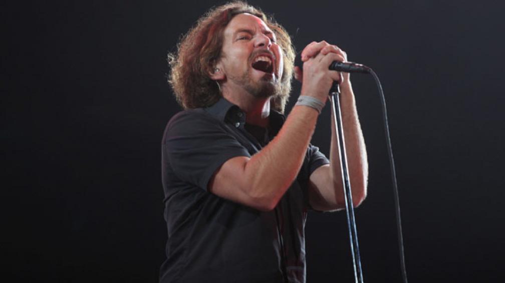 GARGANTA PROFUNDA. Eddie Vedder tuvo una noche brillante en La Plata. Gentileza: La Nación.
