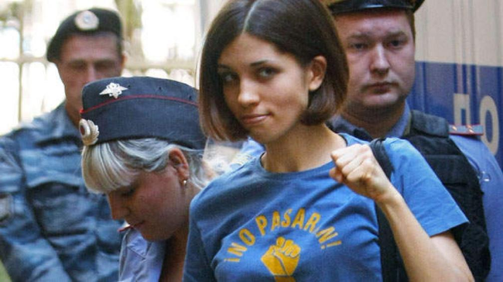 Una de las integrantes del grupo Pussy Riot antes de conocer la sentencia.