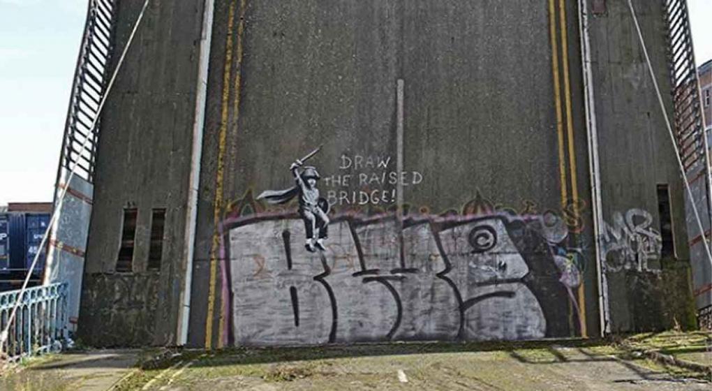 El nuevo mural de banksy que quieren limpiar el sitio for El mural pelicula