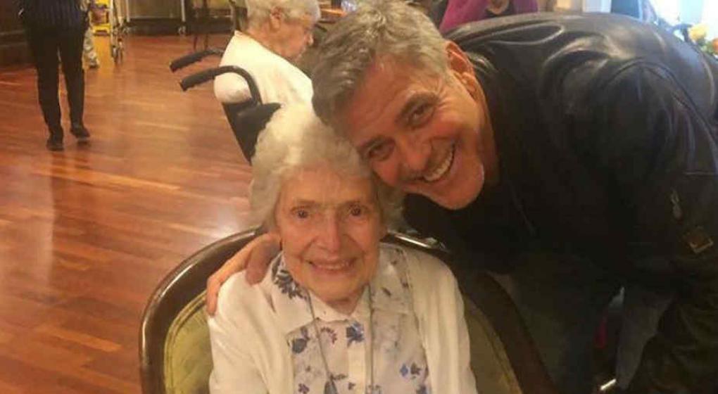 George Clooney cumple el sueño de una fanática de 87 años