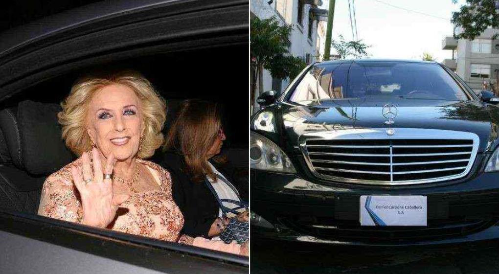 Mirtha Legrand vende su super Mercedes Benz negro