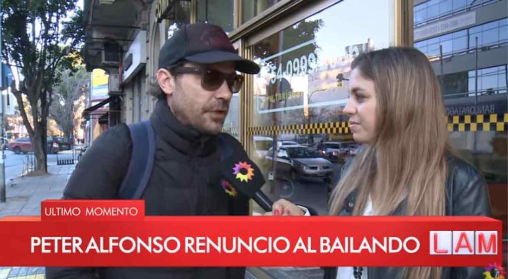 Peter Alfonso renunció al Bailando