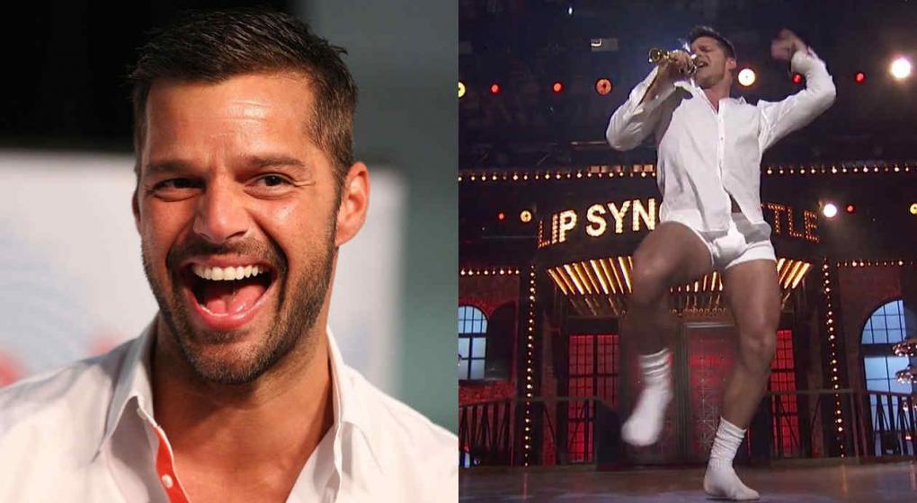 Ricky Martin la rockea en calzoncillos y medias, como Tom Cruise