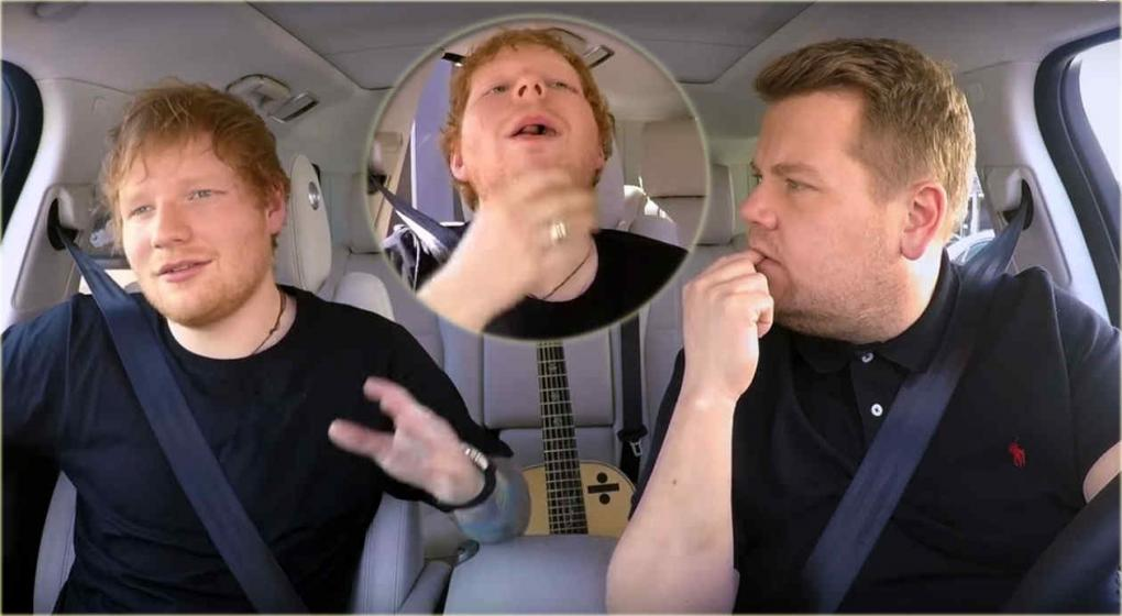 Ed Sheeran se subió al Carpool Karaoke de James Corden