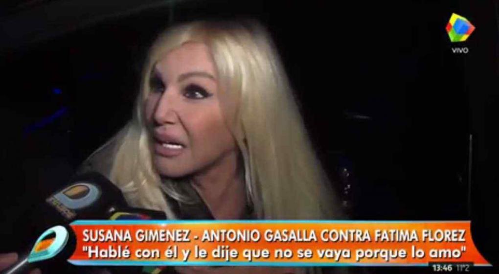 Susana, sobre el drama entre Gasalla y Fátima: