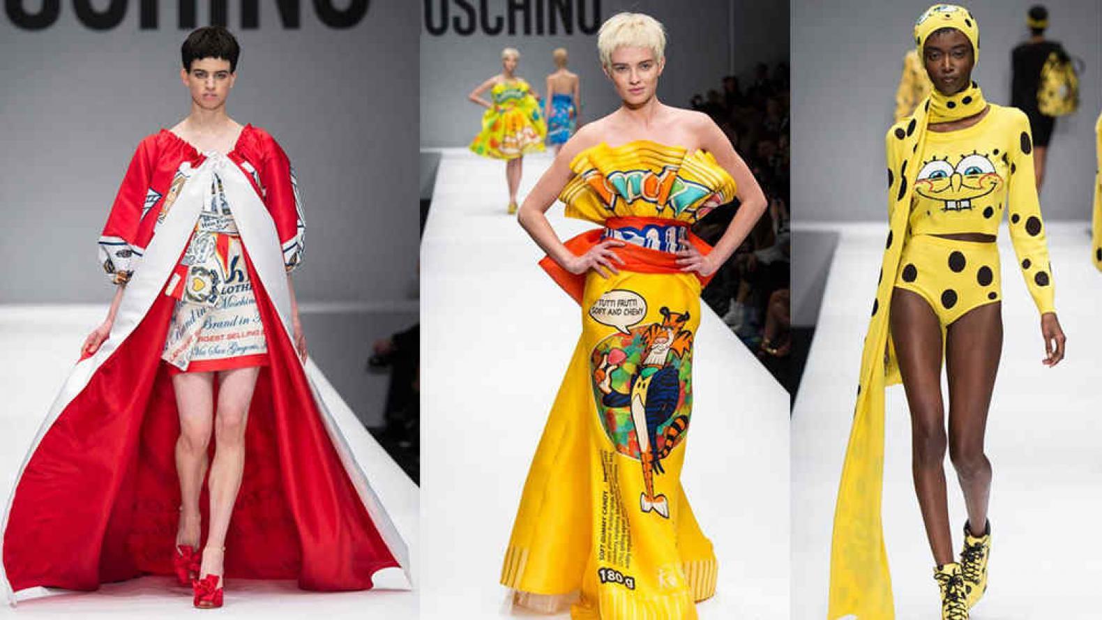 16b4e3ef1e4 El divertido desfile de Moschino inspirado en la comida rápida | MUSA