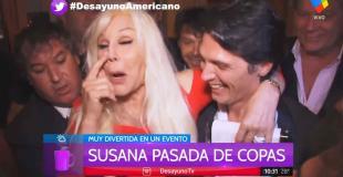 ¡Las divas también beben! Mirá el video de Susana alegre tras una noche de vino