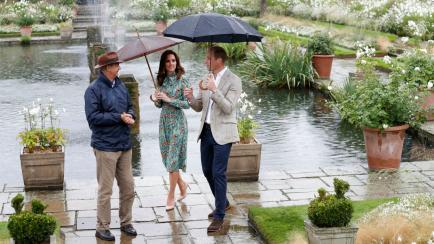 Kate Middleton homenajeó a Lady Di con un atuendo simple y floral