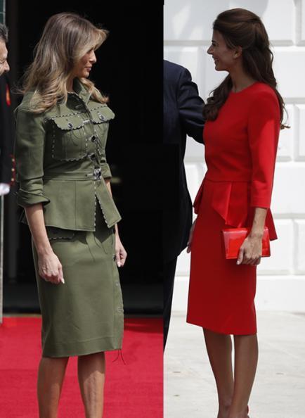 Macri en Estados Unidos: ¿Juliana Awada se vistió de Melania Trump y viceversa?