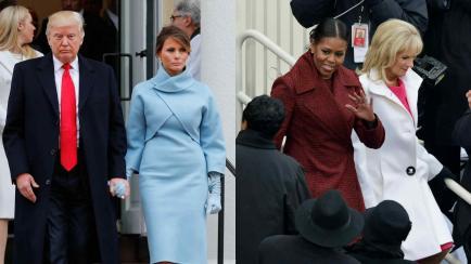 ¿Qué dijeron Melania Trump y Michelle Obama a través de sus looks en el acto de asunción presidencial?