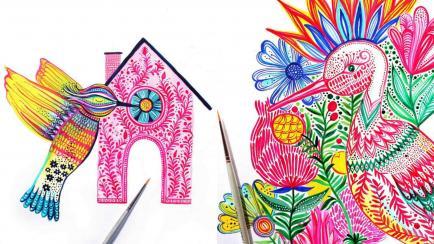Reina en colores: la artista favorita de las marcas para intervenir todo tipo de objetos