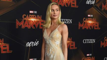 Brie Larson brilló en la alfombra roja de