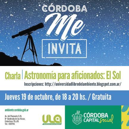 Para una tarde diferente: charla sobre Astronomía, gratuita