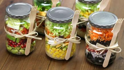Ensaladas en frasco, la nueva tendencia foodie para comer más sano