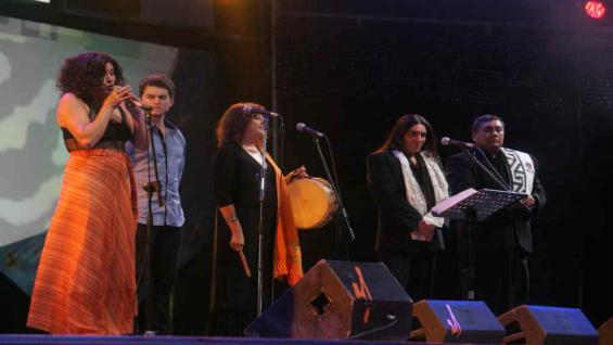 El homenaje al Chango Rodríguez por la Delegación de Córdoba. (foto La Voz del Interior).