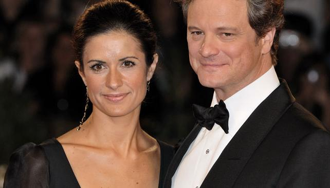 Colin Firth y su esposa Livia