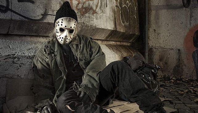Jason Voorhees, ahora convertido en un vagabundo (foto: Behance.net).
