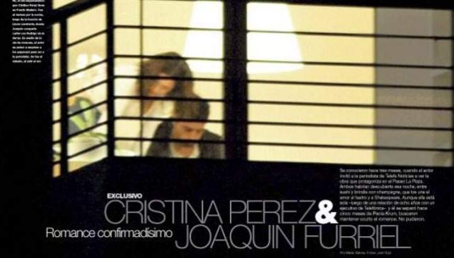"""JOAQUIN FURRIEL Y CRISTINA PEREZ, captados """"in fraganti"""" por un paparazzi de revista Gente."""