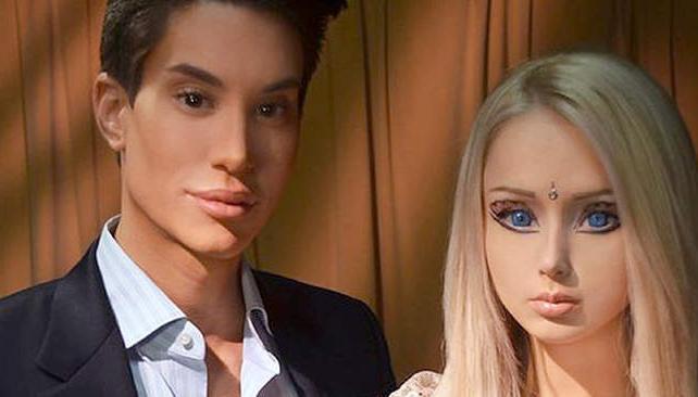 """Aunque usted no lo crea. Justin Jedlica y Valeria Lukyanova """"producidos"""" como Ken y Barbie."""