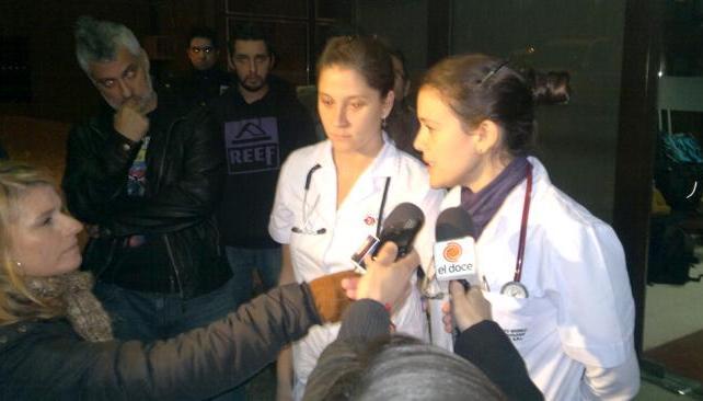 Los primeros partes médicos. Foto: Facundo Luque/LaVoz.