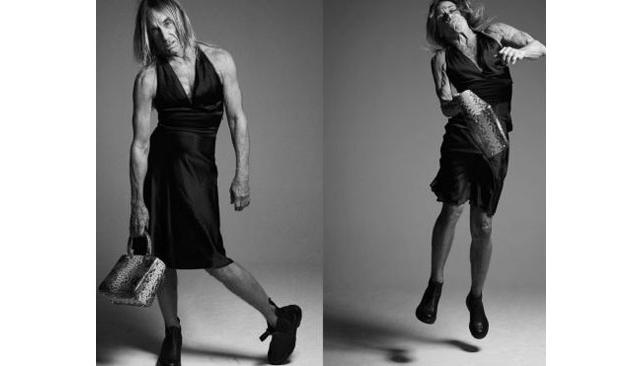 Iggy Pop con el emblemático bolso de la casa de moda. Foto: Dior.
