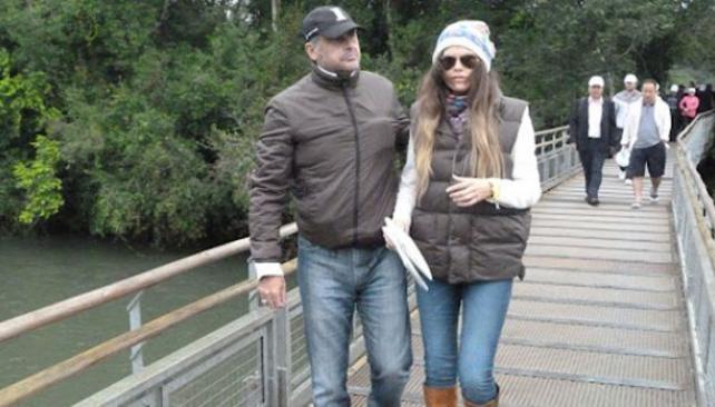 Jorge Rial y Loly Antoniale en las Cataratas (Foto: Misiones OnLine)
