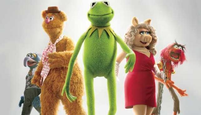 La Rana René ahora se llama Kermit. Figaredo, a su derecha, es Fozzie.