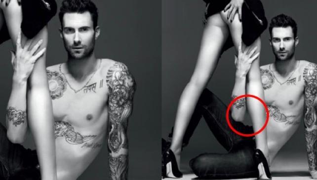 Vogue russa: el torso del modelo está incompleto.