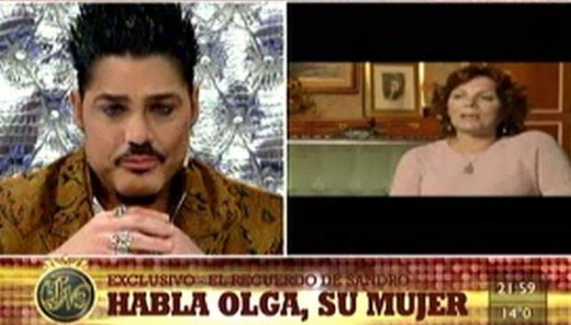 Ricardo Fort entrevistó a la viuda de Sandro, Olga Garaventa.