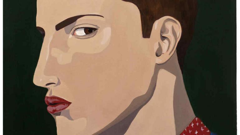 Majo Arrigoni exhibe una serie de pinturas basadas en retratos fotográficos extraídos de internet.