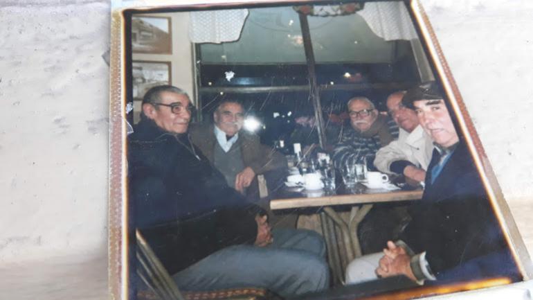 Francisco Venturizzi y sus amigos en 1991.