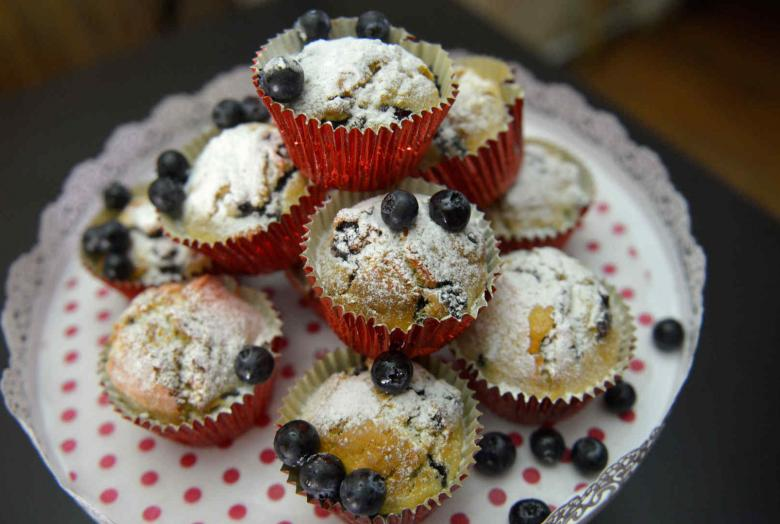 Recetas navideñas: cómo preparar muffins de arándanos y chocolate