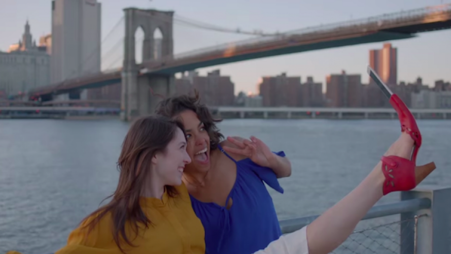 Zapato para sacar selfies