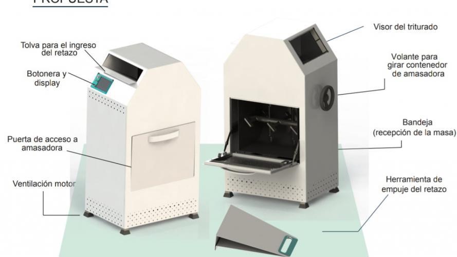 Dos diseñadoras inventaron una máquina para reusar residuos textiles