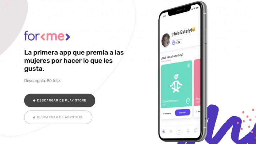 For Me: una app que te ayudará a sacar tu mejor versión ¡y te premiará por eso!