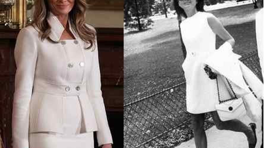 ¿Por qué dicen que Melania Trump imita a Jackie Kennedy?