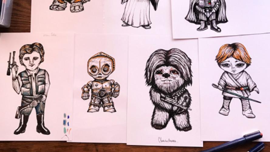 """""""Star Wars"""" fashion: los pañuelos de Leia, Luke y Han Solo de una diseñadora argentina"""