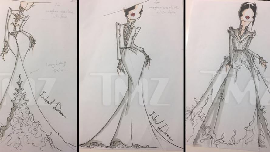 Se filtraron bocetos del vestido de Meghan Markle, futura esposa del príncipe Harry
