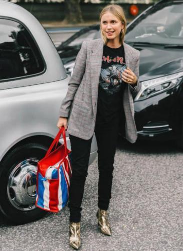 El saco masculino es tendencia en mujeres