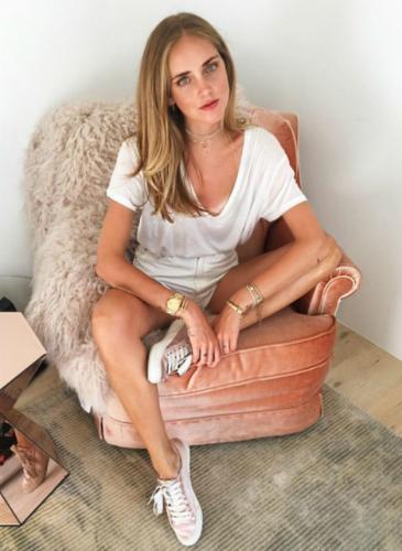 Loca por las zapatillas: la debilidad de Chiara Ferragni