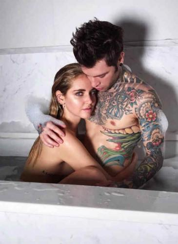 Producción hot: mirá las fotos de Chiara Ferragni y su pareja para Vanity Fair Italia