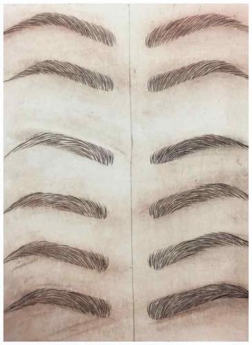 Una técnica ancestral se usa para modelar cejas, con resultados sorprendentes