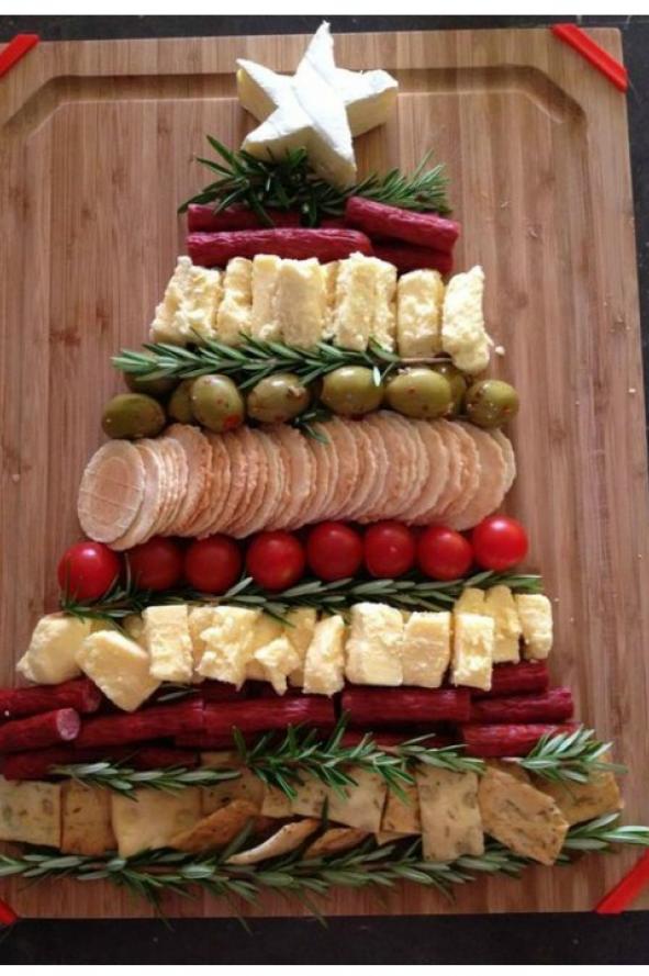 ideas creativas y fciles para presentar la comida en navidad